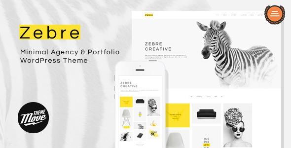 Zebre – Minimal, Agency & Porfolio WP Theme