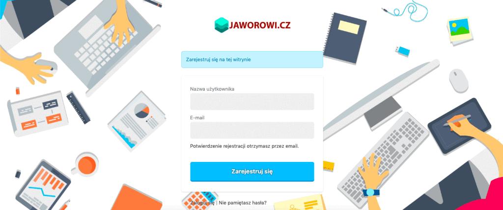 rejestracja WordPress