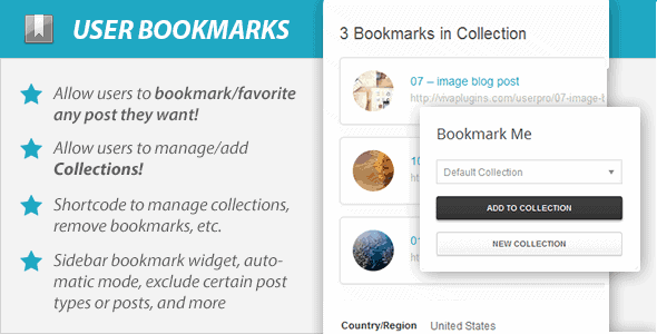 WordPress User Bookmarks (Standalone version)