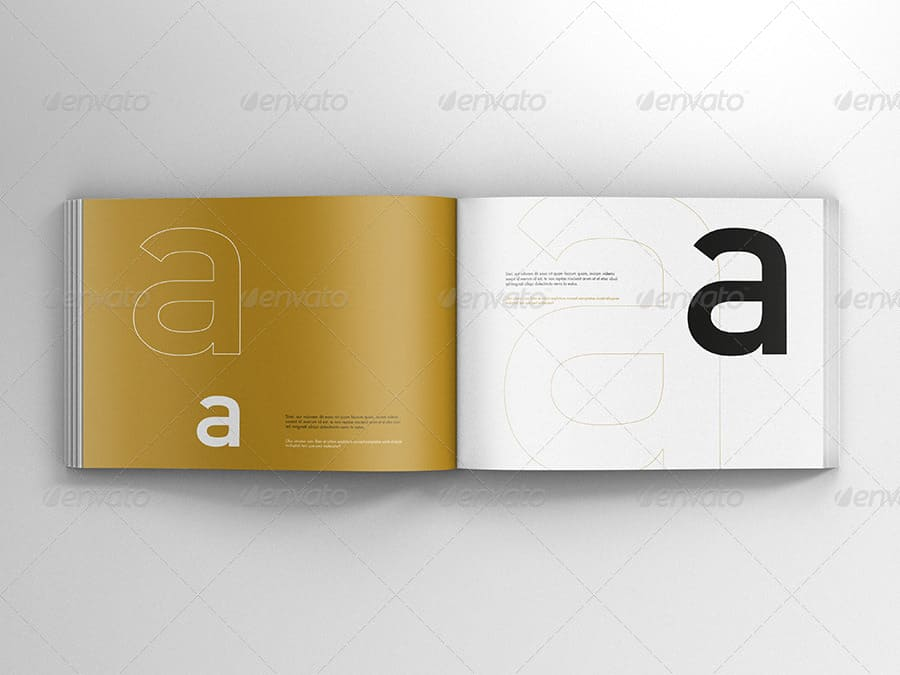 Book / Catalog Mock-Ups Landscape