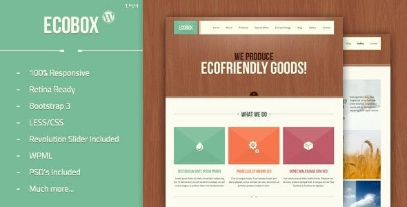 Ecobox – Responsive WordPress Theme