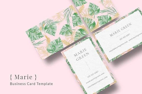 { Marie } Business Card Template