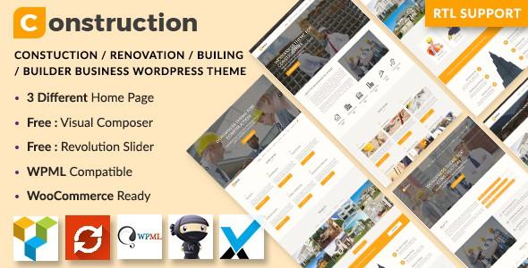 Construction – Motyw dla WordPress | ThemeForest-19587003 zip