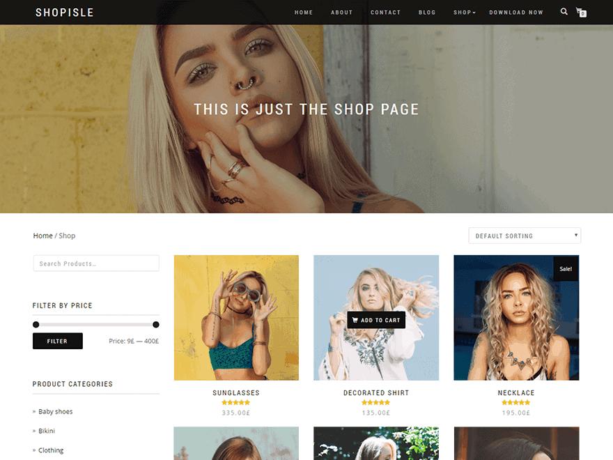 Shop Isle – Motyw WooCommerce | Autor: Codeinwp | Cena: Darmowy
