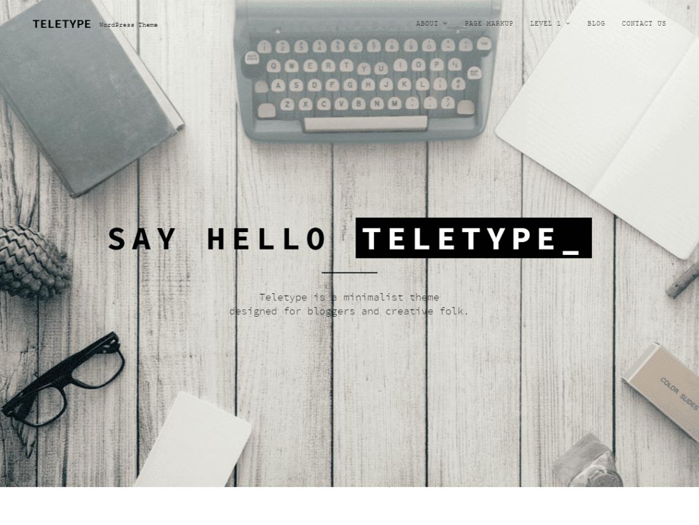 Teletype – Motyw WordPress | Autor Dinev Dmitry | Cena: Darmowy