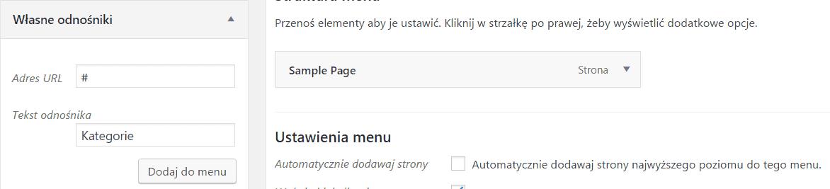 Automatyczne rozwijane menu zlistą kategorii wWordPress