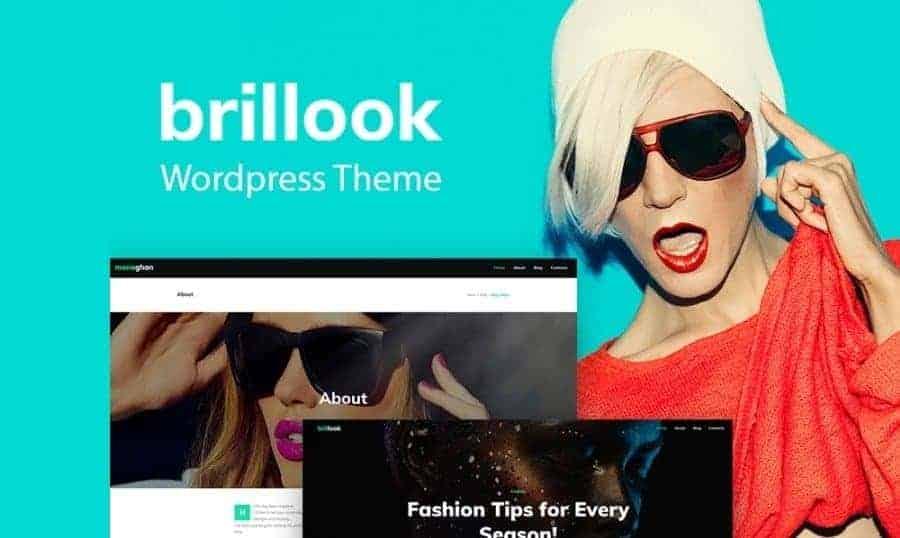 [Za darmo] Brillook dla blogów modowych - motyw dla WordPress