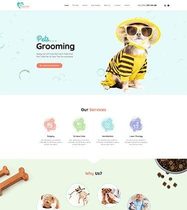 LovePet – Motyw dla Weterynarzy, sklepów zoologicznych z WooCommerce