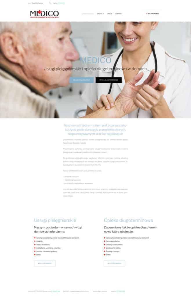 Medico - Przeniesienie strony z Wix do WordPress