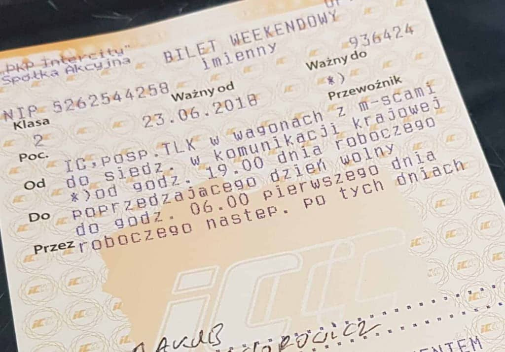 Bilet Weekendowy - Cena Promocja PKP Intercity