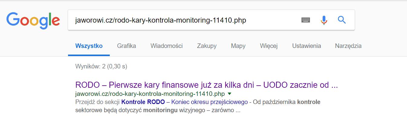 Szybkie indeksowanie wGoogle