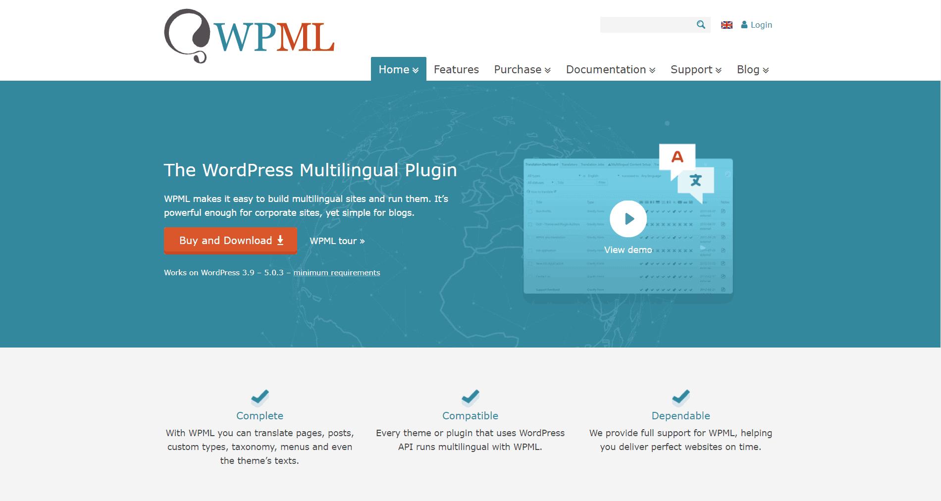 strona internetowa wkilku językach