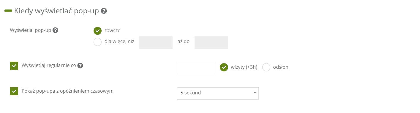 formularz popup zbieranie generowanie leadów