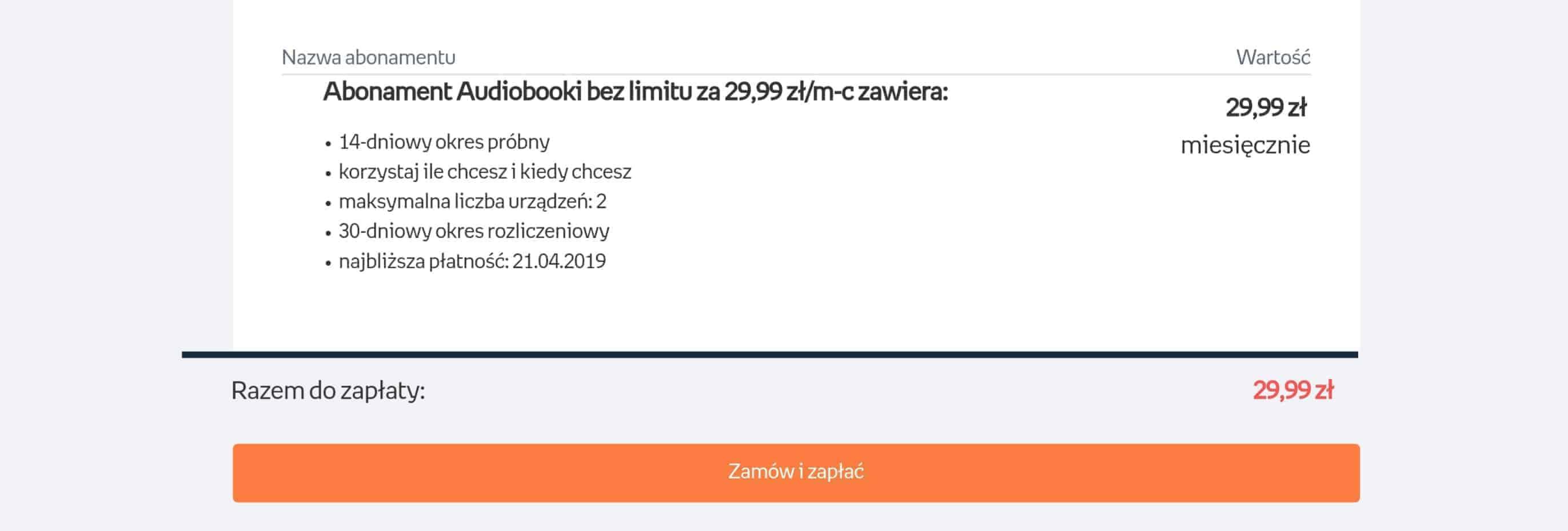 Empik GO oferta ceny pakiety audiobooków bezlimitu