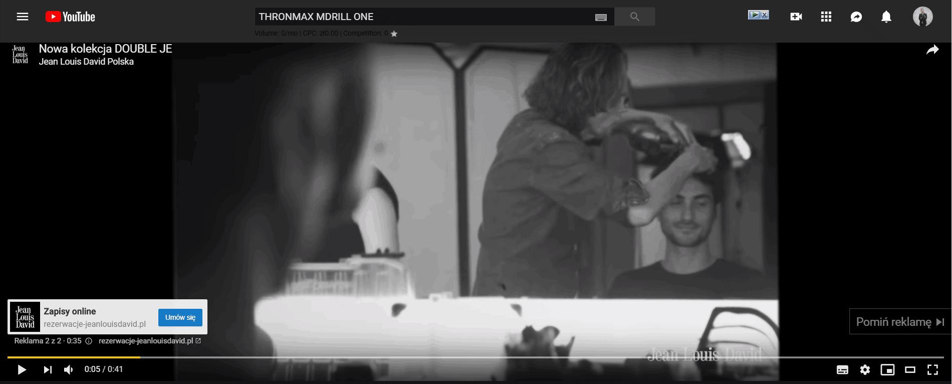 Reklamy przedfilmem naYouTube.