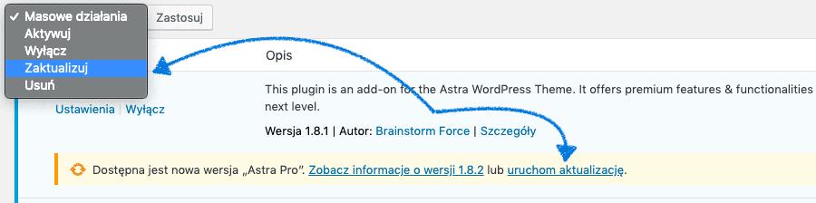 jak zaaktualizować wtyczkę wWordPress?