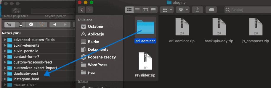 instalacja wtyczki wordpress FTP