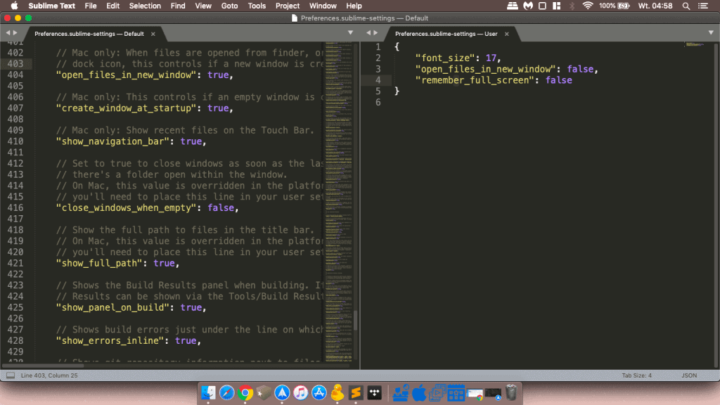 sublimetext mac os x - apple macbook air