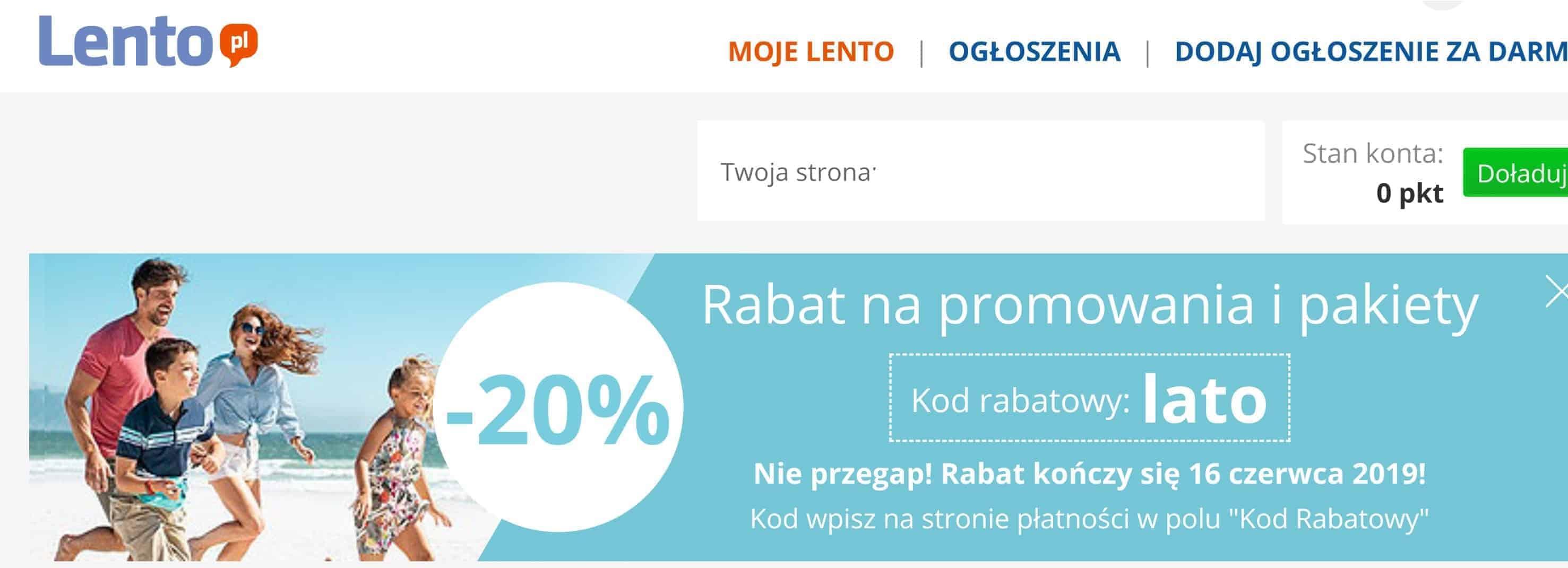 Lento.pl kod rabatowy
