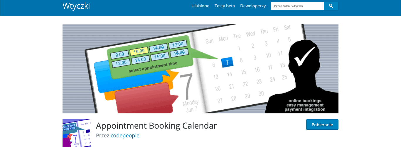 Appointment Booking Calendar wtyczka wordpress