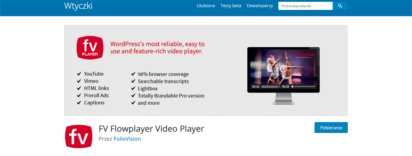 FV Flowplayer Video Player