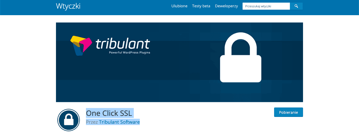 One Click SSL Tribulant Software wtyczka wordpress