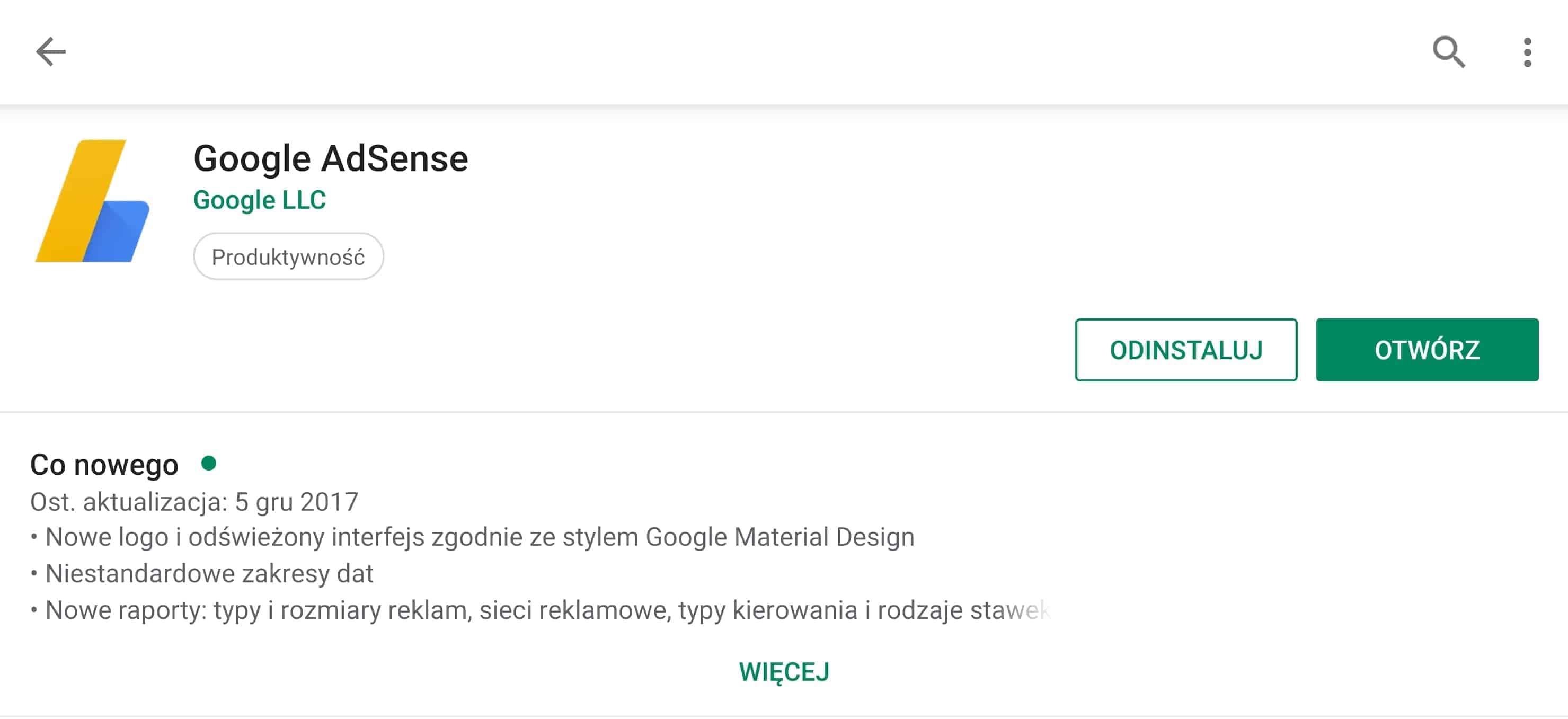 Google Adsense zostanie zamknięte. Aplikacja.