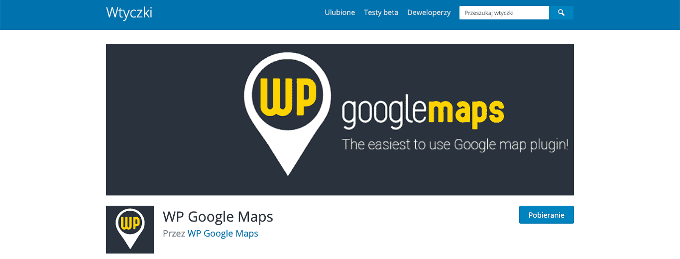 WP Google Maps wtyczka plugin wordpress