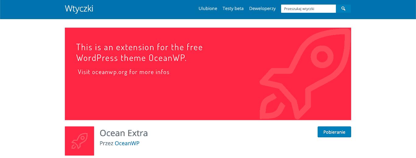ocean extra oceanwp wtyczka wordpress