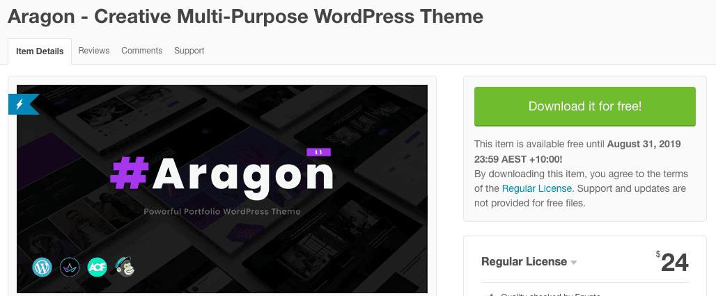 Aragon - Creative Multi-Purpose WordPress Theme