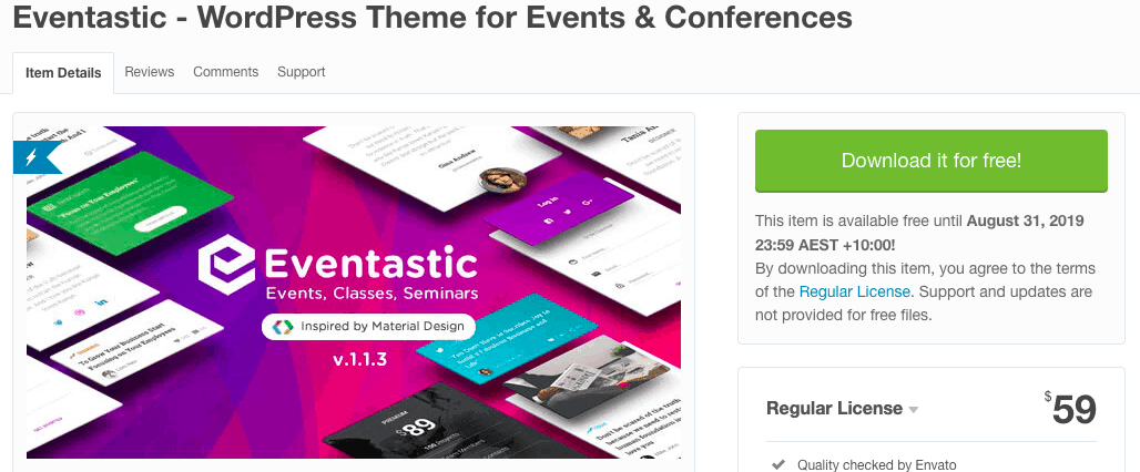 Eventastic - WordPress Theme for Events & Conferences