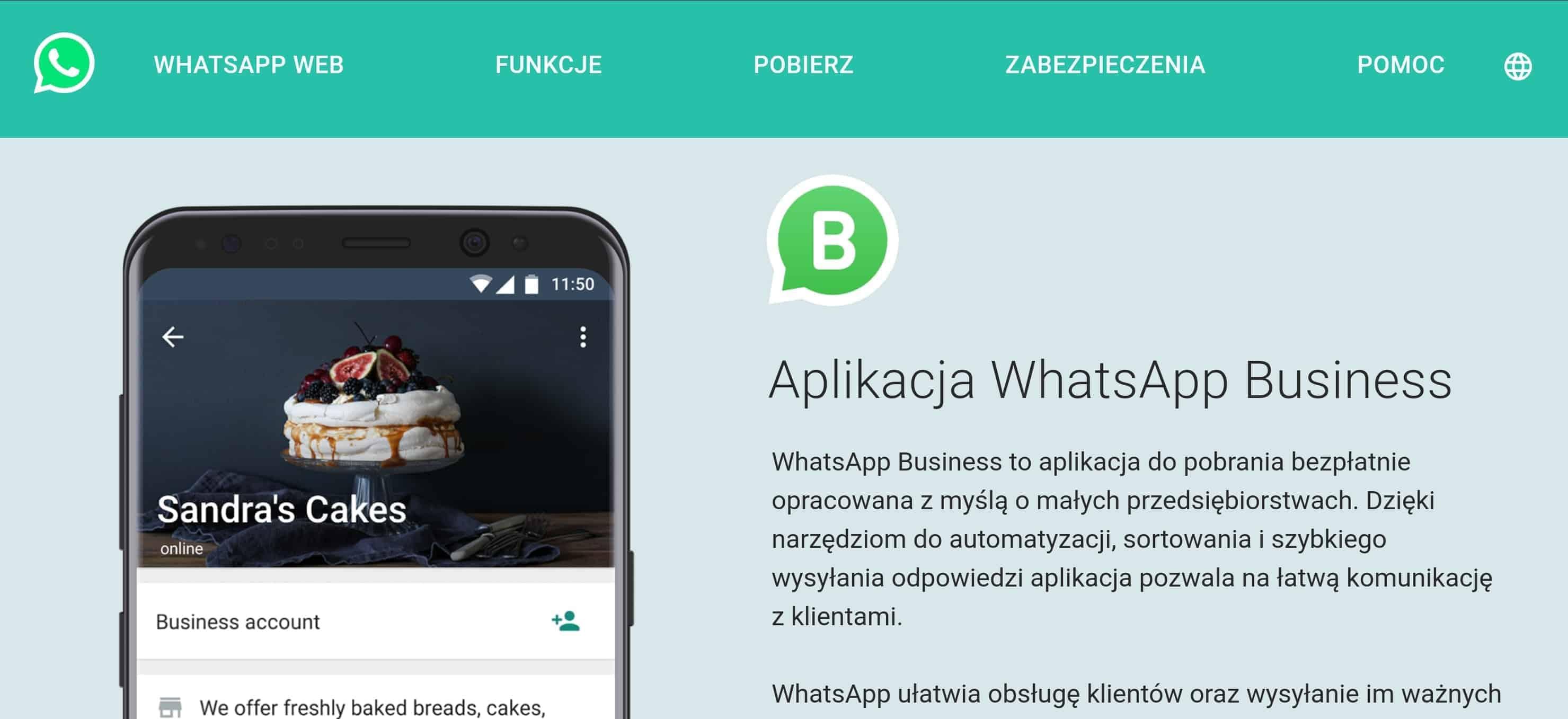 WhatsApp Business płatny cennik