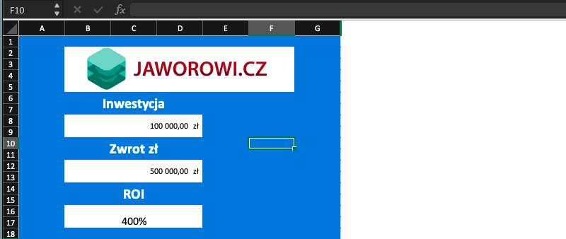 kalkulator ROI wexcelu jak obliczyć roi wexcelu