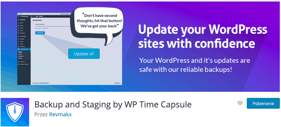 Backup and Staging by WP Time Capsule