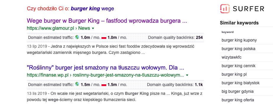 Burger King dla wegan iwegetarian