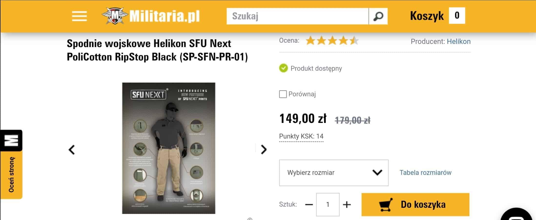 Militaria Spodnie wojskowe sklep online