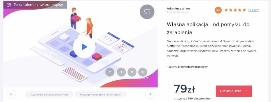 Strefa Kursow: Wlasna aplikacja - odpomyslu dozarabiania