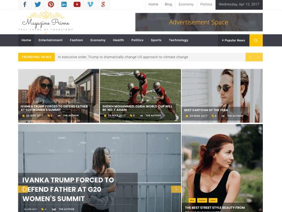 Magazine Prime – Motyw WordPress | Autor: themeinwp | Cena: Darmowy