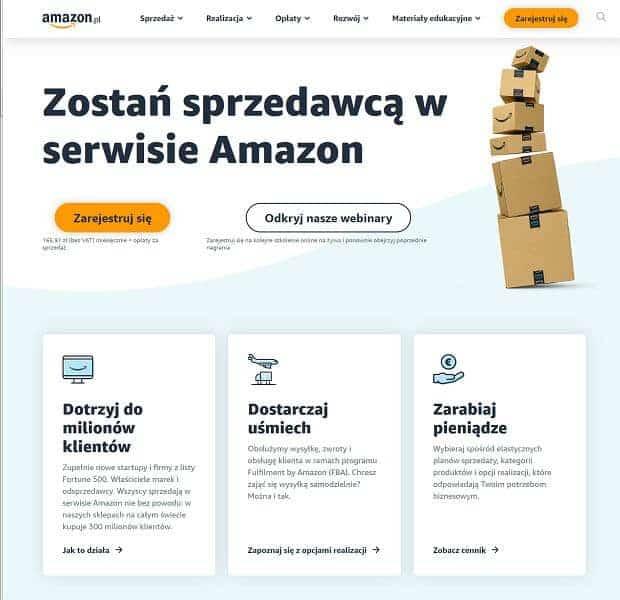 Sprzedawanie naAmazon