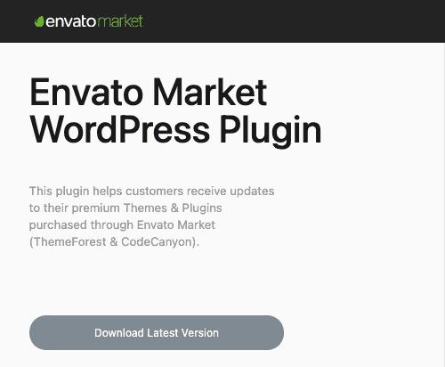 Envato Market WordPress Plugin wtyczka
