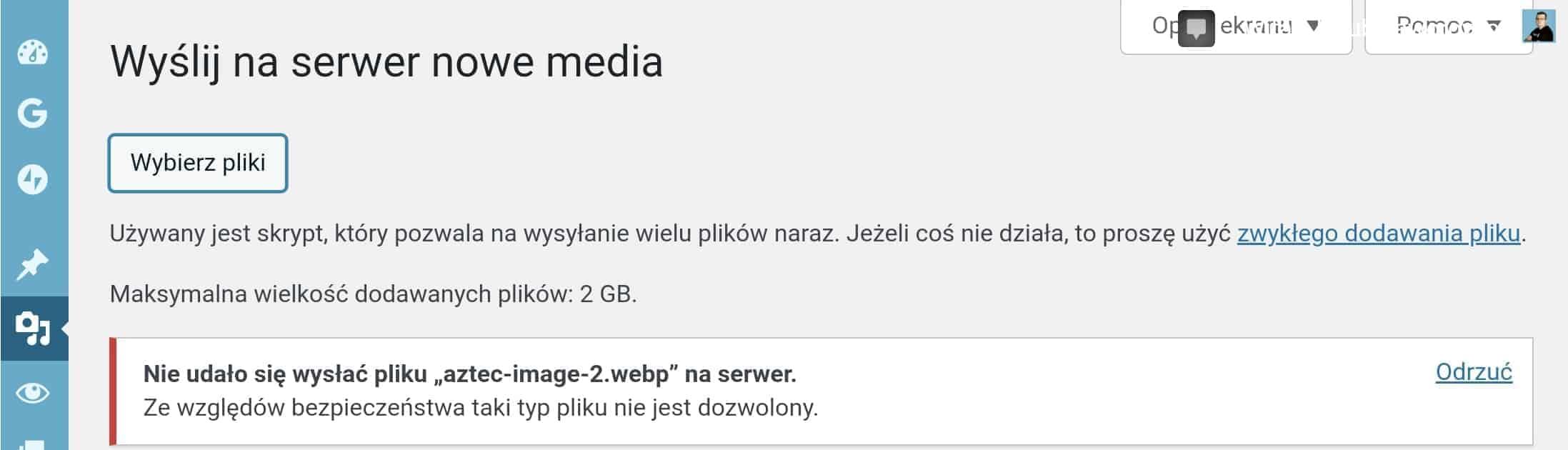 WebP WordPress